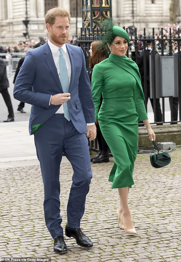 The Duke and Duchess of Sussex attend the 2020 Commonwealth Day service at Westminster Abbey on March 9, 2020 in London