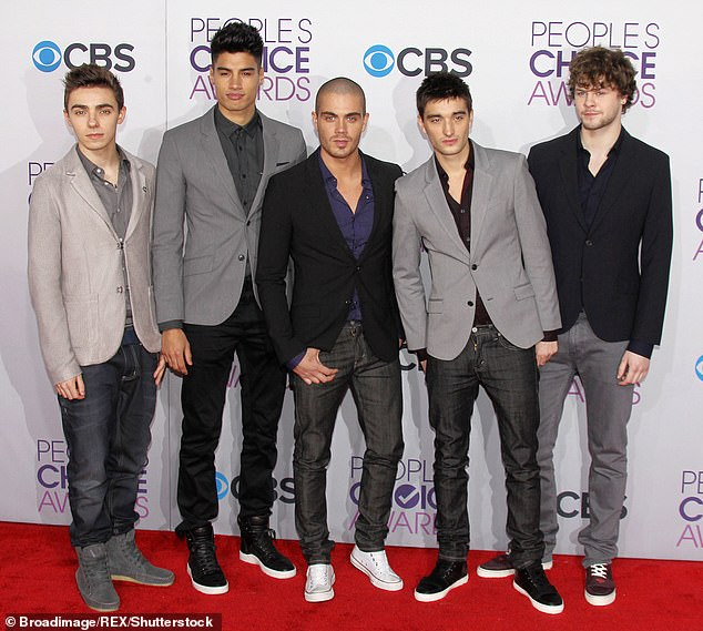 The Wanted: Tom rose to fame as a singer in boy band The Wanted in 2009, before they went on hiatus in 2014 (pictured in 2013 with L-R Nathan Sykes, Siva Kaneswaran, Max George and Jay McGuiness)
