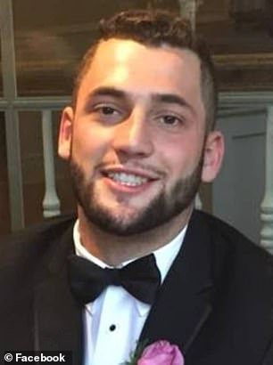 Ohio State University student Chase Meola, 23 (pictured), was fatally shot outside a frat house early Sunday. The shooting occurred after a fight broke out in the street