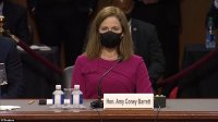 Amy Coney Barrett arrives for Supreme Court confirmation hearing