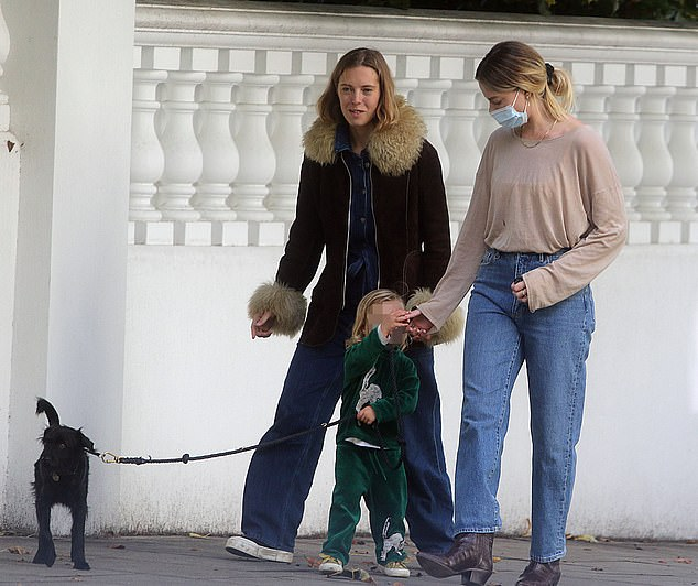 Company: The blonde beauty was joined by a friend and their child, and Margot's pup Boo Radley