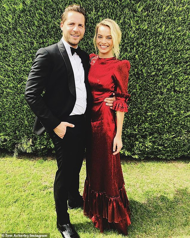 Travelling the globe:  Margot splits her time between the US and the UK with her British director husband, Tom Ackerley