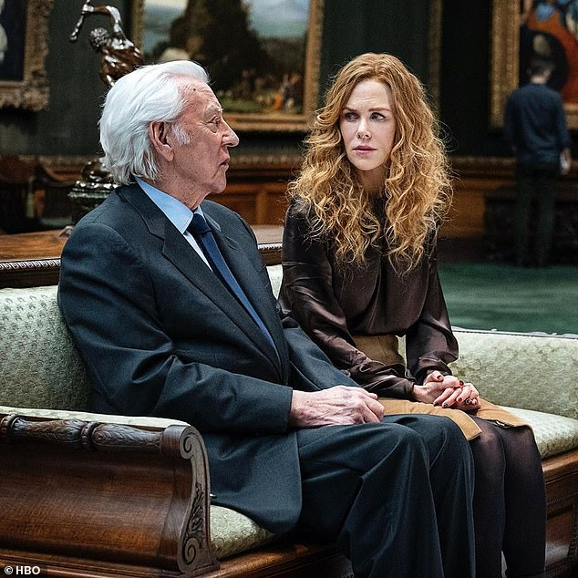 Stellar! The cast includes Donald Sutherland (left) as Grace's wealthy father Franklin Renner