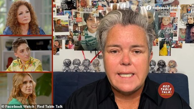 Achieving candor: 58-year-old Rosie O'Donnell said of her 2002 shocking announcement that she was gay during an interview for Red Table Talk: Estephanes, set for release on Wednesday.