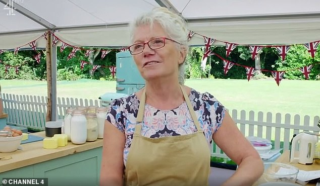 Poignant: Revealing white chocolate celebration cake was a tribute to her late daughter, contestant said it 'really meant a lot' to her