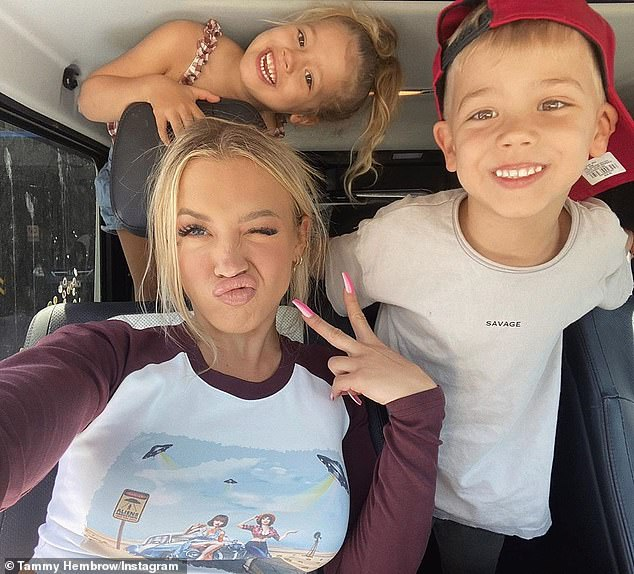 Motherhood: She is also a doting mother to her two children, five-year-old son Wolf and four-year-old daughter Saskia, whom she shares with her ex-partner Reece Hawkins