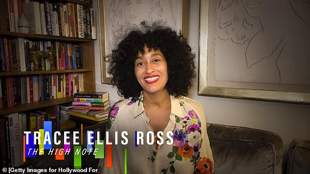 Greetings: Actress and singer Tracee Ellis Ross appeared on the show from home