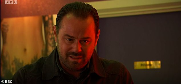 Harrowing:In the scene, Mick (Danny Dyer) told Frankie (Rose Ayling-Ellis): 'I think you've been a little bit quick to judge. I made the first move on your mum 'I did all the chasing so it's not, it can't be her fault.'