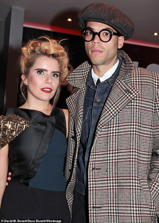Proud mother: Paloma welcomed her first child with French artistLeyman in 2016