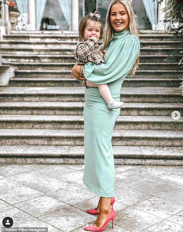 Doting:The mother-of-one shares adorable daughter Ottilie, 14 months, with Fraser