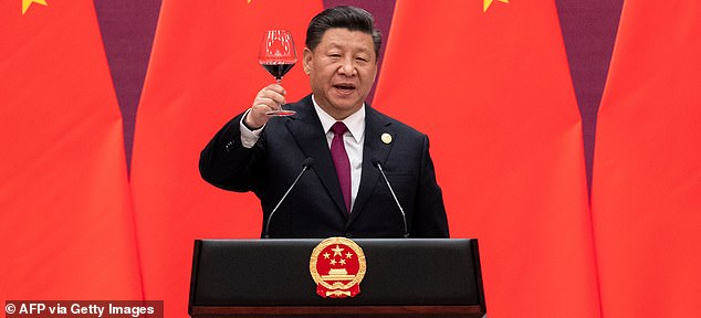 Chinese President Xi Jinping toasts the Belt and Road Forum in 2019 in Beijing