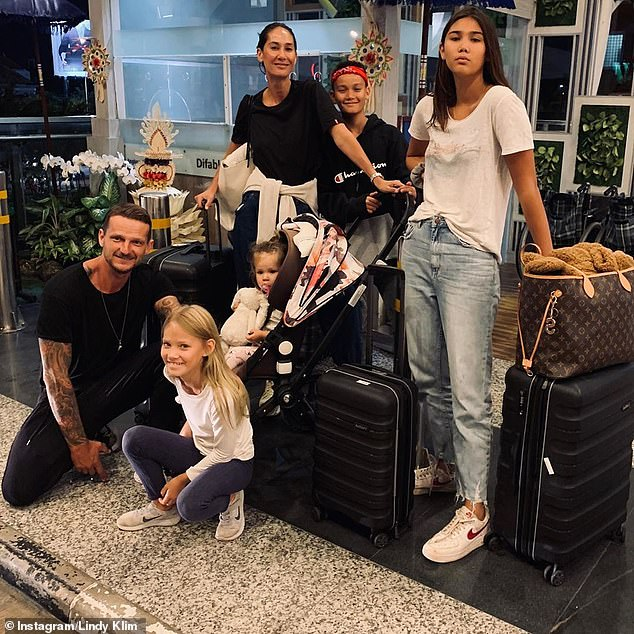 Sick: It comes after Lindy shared shared her struggle with the mosquito-borne viral disease, saying her entire family - husband Adam Ellis, and four children Stella, Frankie, Rocco, and Goldie - had contracted it, too. All Pictured