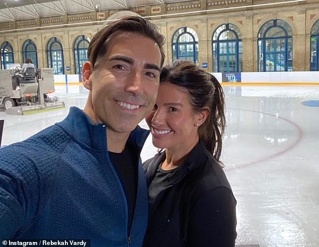 Dynamic duo: Last week Rebekah revealed she's been partnered with professional skater Andy Buchanan as she began training for the new series