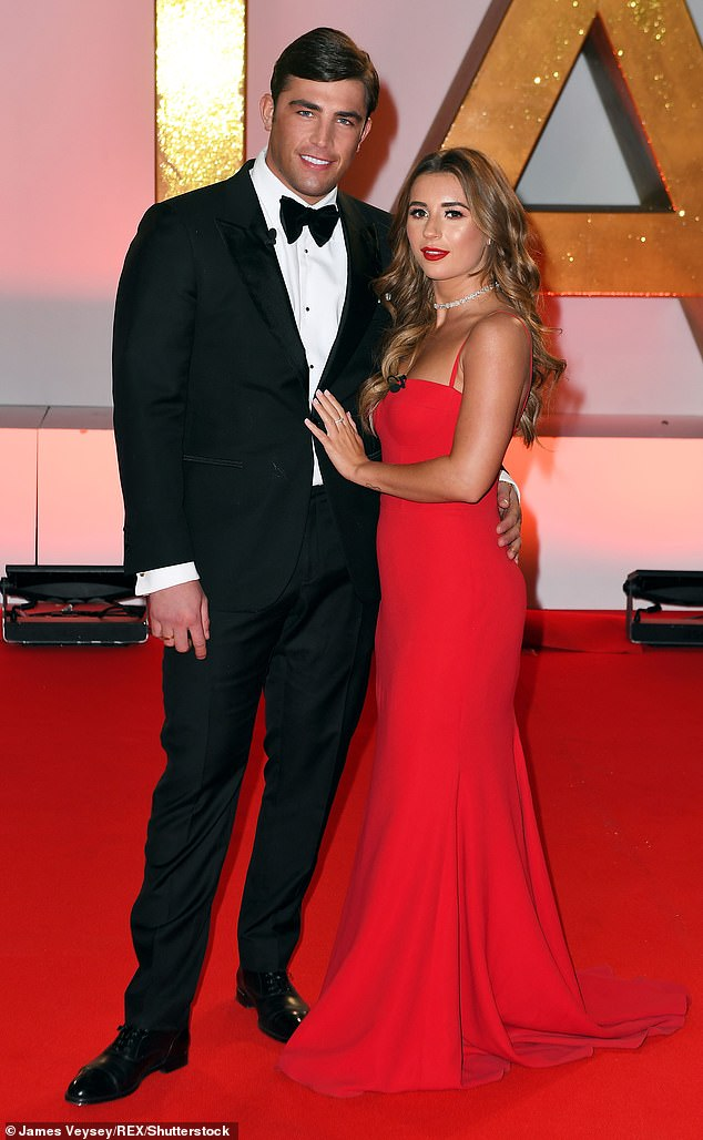 Former lovers: Jack became a dad to daughter Blossom 18 months after finding fame on Love Island with ex-girlfriend Dani Dyer (pictured together in January 2019)