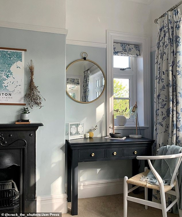 This nook is perfect for a work-from-home set-up in the large Cheshire family home