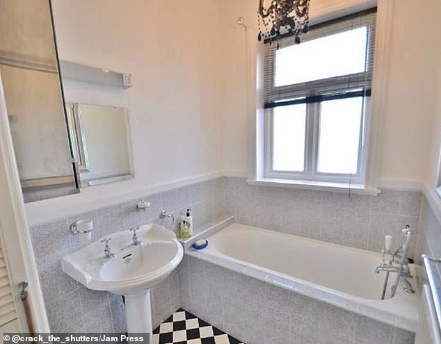 The bathroom before was much more cramped and was given a new lease of life