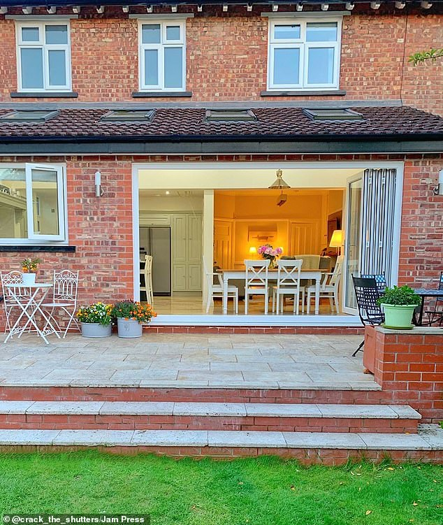 The couple added this spacious patio at the rear of the property that's perfect for entertaining