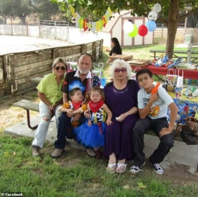Family time: Cheri Monize pictured with Rogers and her kids