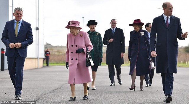 The Queen sought to send a reassuring message to the country as she got back to business without a mask today, carrying out her first public engagement outside of a royal residence since before the coronavirus pandemic gripped the nation