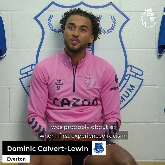Dominic Calvert-Lewin has opened up on his own personal experiences with racism