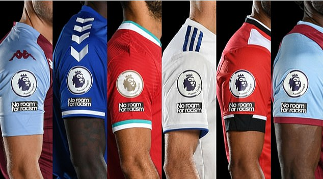 The No Room For Racism logo will appear on the sleeves of club shirts from October 17 to 26