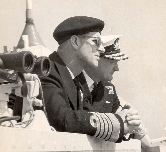 Prince Philip was allegedly unhappy with the way Buckingham Palace was run when he first married the Queen. Pictured: Prince Philip visiting the Mediterranean Fleet