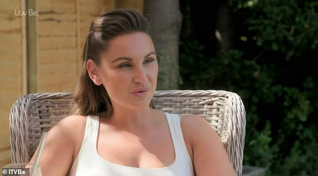 Candid: Sam Faiers said she would feel 'like a fraud' when editing her pictures to hide her adult acne for Instagram posts during a chat with her mum on Thursday's The Mummy Diaries