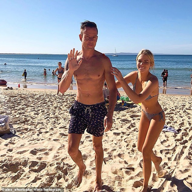 Former Flame: After his marriage breakdown, James dated Marketing Manager Alexandra Elms (right), but it appears their romance began to falter in June