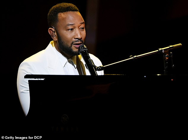 Emotional tribute: John, 41, appeared the night before at the 2020 Billboard Music Awards, where he dedicated a heartbreaking performance of his new song Never Break to his wife, prefacing: 'It's for Chrissy'