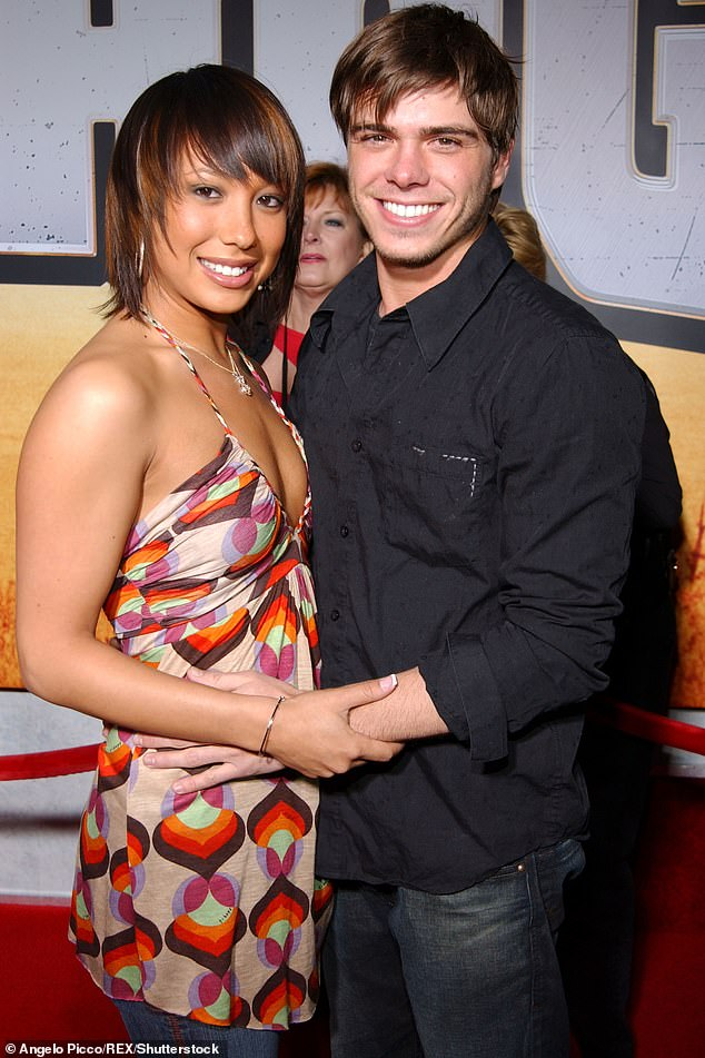 Kicking up her heels:They became a duo in 2007 and the following year the romance fell apart after Cheryl's hard living 'just kept getting worse,' Matthew said; pictured in 2007