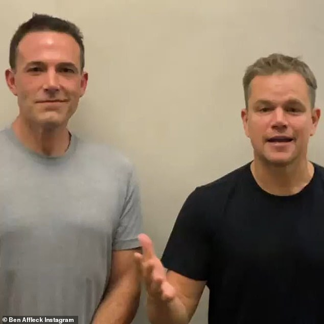 In the snippet: The A-list besties were seen picking on one another about their former roles as Batman and Jason Bourne