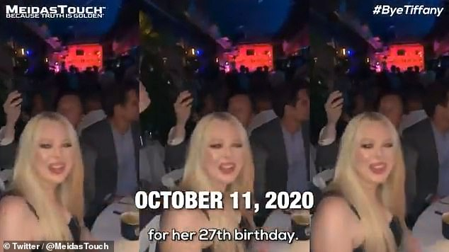 Footage taken from Tiffany Trump's Instagram story showed parts of her 27th birthday celebration in Miami, Florida