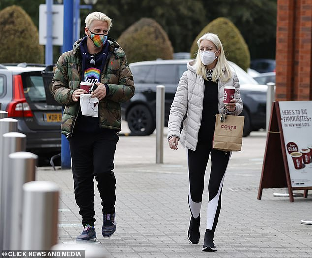 Oh dear: It had been reported that competitor Rebekah Vardy had hoped to be paired with the openly gay skater to avoid any possible cheating rumours
