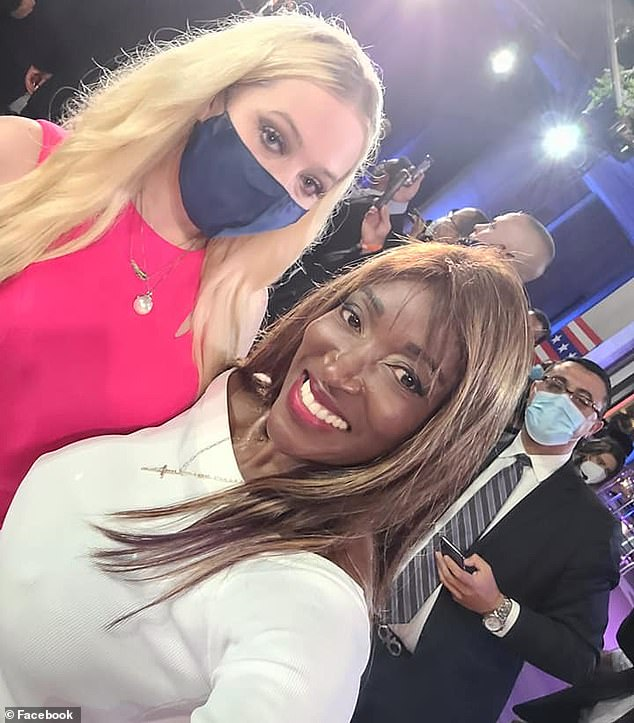 Joli posed for a selfie with the president's youngest daughter, Tiffany Trump