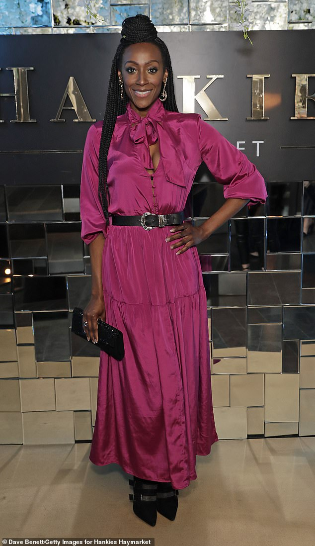 Sad times:Coronation Street and X Factor Celebrity star Victoria Ekanoye has discussed her battle with debilitating condition sickle cell anaemia (pictured in March)