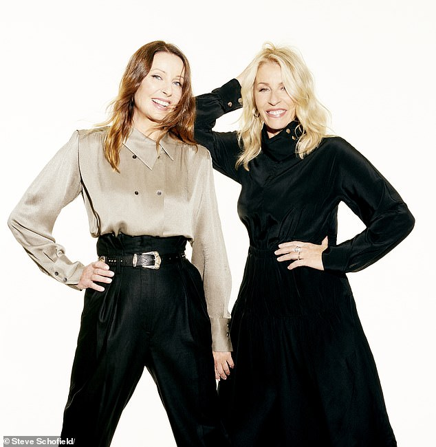 Keren wears shirt, Massimo Dutti. Trousers, Iro. Belt, Black & Brown. Sara wears jumpsuit, Tibi, theoutnet.com