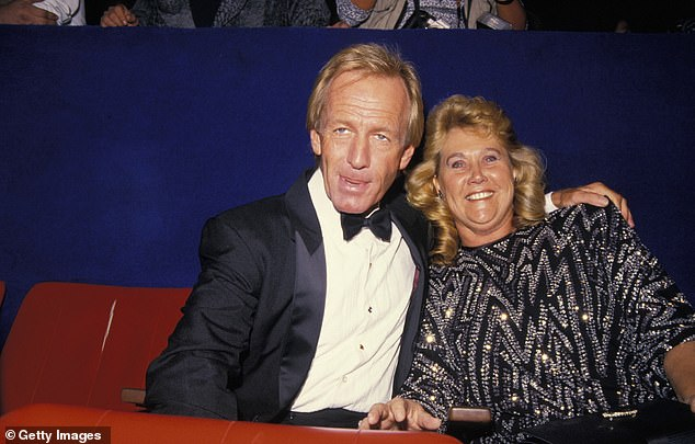 History: The Australian actor, 81, admitted both his relationships 'just wore out' after years together. Pictured Paul and his first wife Noelene Edwards at the Crocodile Dundee II premiere in 1988