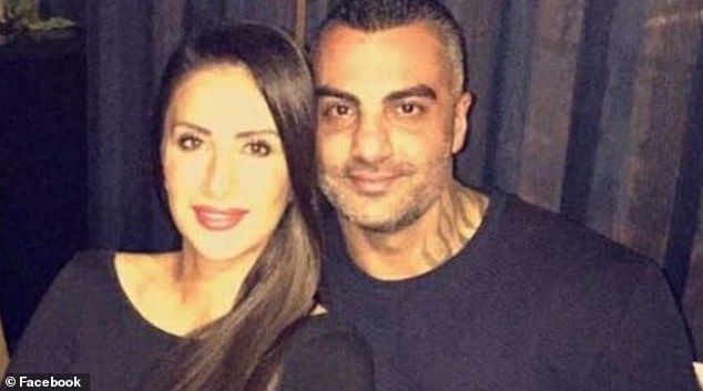 Mahmoud 'Mick' Hawi, (pictured with wife Carolina Gonzales) former Comancheros national president, was shot dead in his black Mercedes parked outside a Fitness First gym in 2018