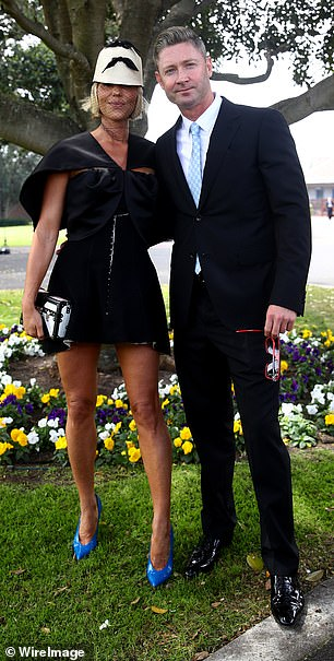 Milestone: Michael and Pip seemed very happy to attend the event together, their first official event since their romance was confirmed earlier this year