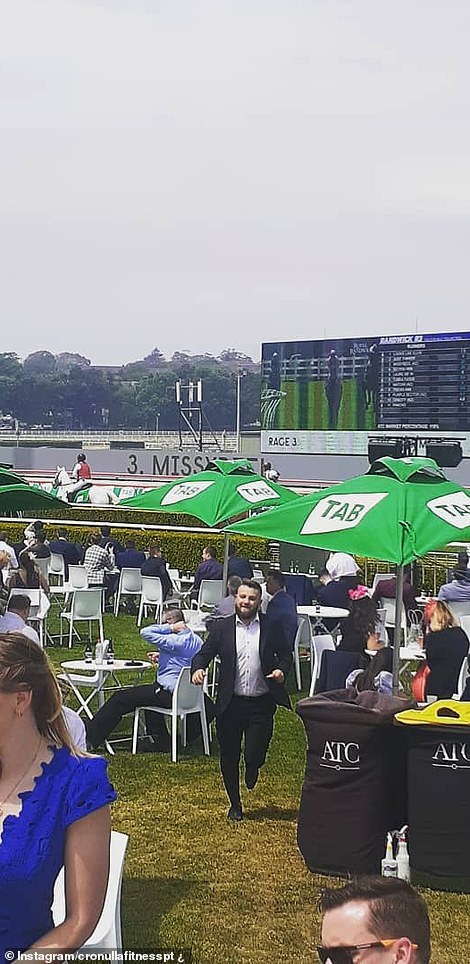 Seating covered the lawn at the Royal Randwick so it could be meeting COVID-safe rules, where people typically stand to cheer on jockeys and horses