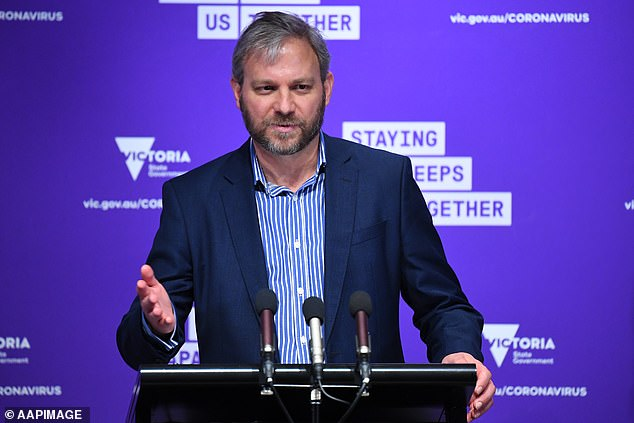 Damning emails reveal Victoria's Chief Health Officer Brett Sutton (pictured) was told months ago private security would be used in the bungled hotel quarantine program