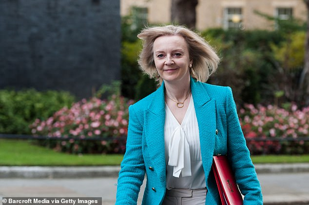 Liz Truss, pictured, faces a revolt among her backbench MPs over her plans for food standards in the post Brexit world
