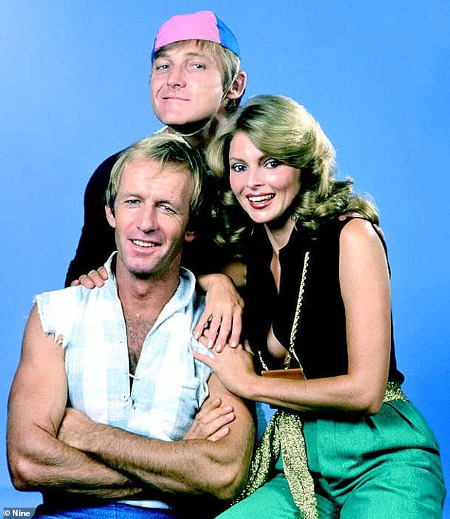 Bust-up: The incident took place in the 1970s during a meeting with Paul, his producer John 'Strop' Cornell and Clyde, the brother of media mogul Kerry Packer. Pictured: Paul Hogan, John 'strop' Cornell andDelvene Delaney