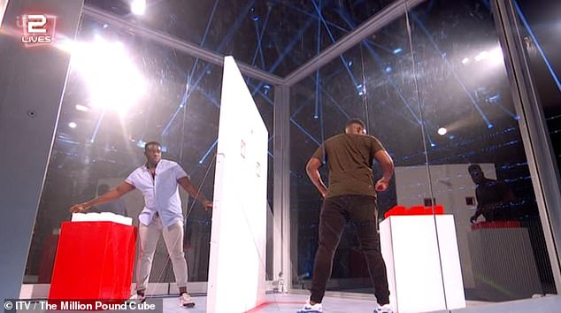 Pressure: The sound dimmed when Mo headed back into the Cube before it cut out entirely leaving fans questioning whether they had 'sat on the remote' on Twitter