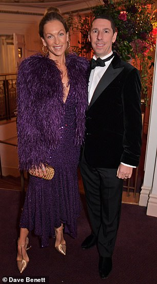 Christian Candy pictured with his wife Emily, attending the 65th Evening Standards Theatre Awards in 2019