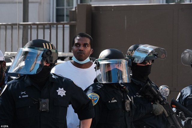 San Francisco Police Department said no arrests had been made at the event