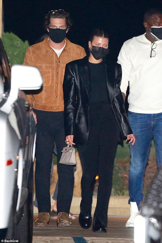 Date night: Sofia Richie, 22, cut a stylish figure as she enjoyed a dinner date with a mystery man at Nobu in Malibu on Saturday