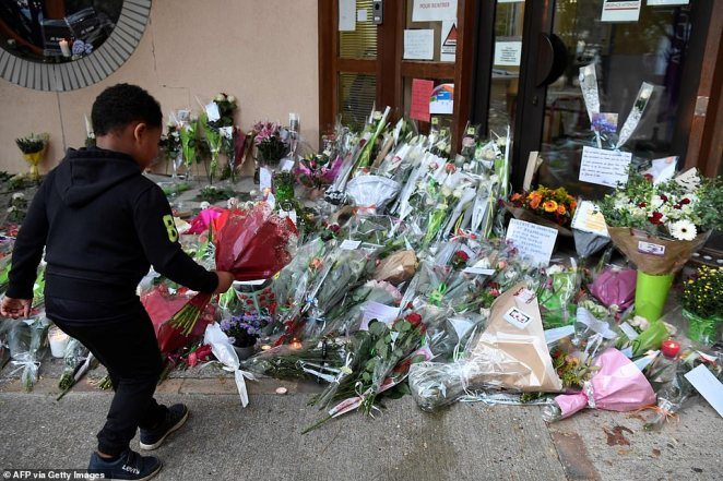 It emerged yesterday that Anzorov asked pupils at the French school to point out the teacher who had shared a Charlie Hebdo cartoon of the Prophet nude before targeting him