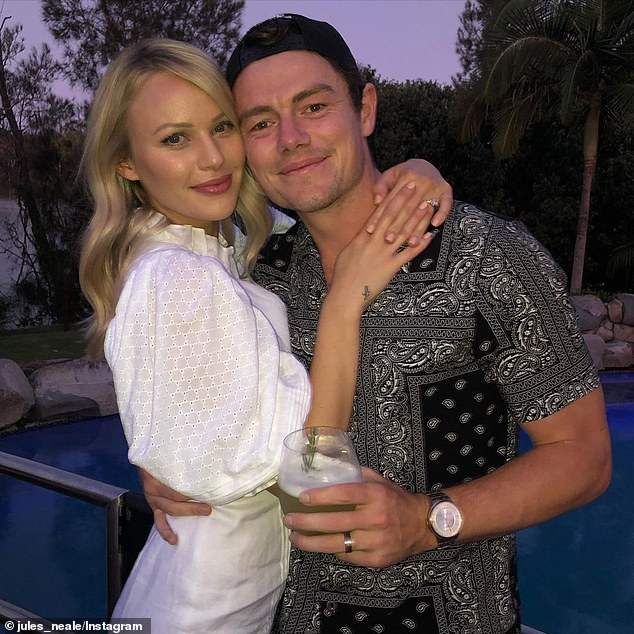 Neale pictured with Julie. He revealed on Sunday night she sold a successful beauty salon in Perth to follow him to Brisbane for his football career