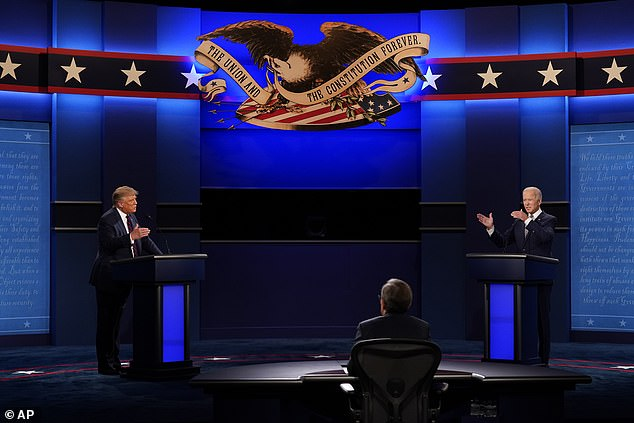 Bannon¿s latest comments cast a slightly more pessimistic tone to remarks made just days ago during a speech in front of the Young Republican Federation, in which he resolutely stated that not only will Trump win on November 3, but he¿ll secure victory very early. Trump and Biden are pictured during the presidential debate